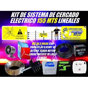 Cerco Electrico Kit 155 Mts Energizador Y Mas Listo Instalar