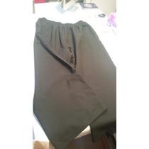Pantalón Negro Cintura Elastizada Portofem - Talle Especial