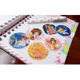 Set De 6 Stickers Circulares De Anime Card Captor Sakura