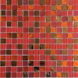 Pastilha Vidro Tipo Gliter Espelho Vermelho Vc137 01 Placa