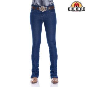 Calça Jeans Flare Feminina Amaciada Kim Pbr 016f