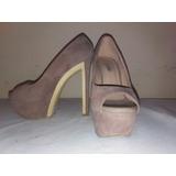 Zapatos Gamuza. Color Nude