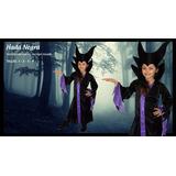 Disfraz Bruja Malefica Halloween Disney Violeta Fiesta Acto