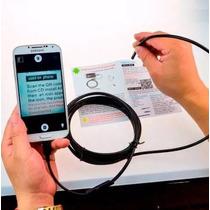Micro Câmera Endoscópica Sonda Para Celular Android 6 Leds