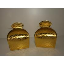 Caixinha Papel Dourada Coroa Noivos - Lembrancinhas 10 Unids