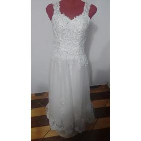 Vestido Noiva Tamanho 37 Novo Bordado