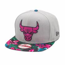 Boné New Era Snapback Original Chicago Bulls Floral Nba