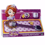 Varita Magica + Aritos Anillo Princesa Sofia Disney Educando