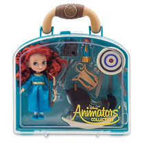 Set Muñeca Animators Mini Merida Valiente Disney Store 2016