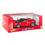 Auto Hot Wheels Elite Ferrari,la Ferrari Rojo Escala 1:18