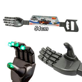 Super Mão Braço Bionico C/ Som E Luz Brinquedo Infantil Cinz