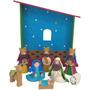 Vacaciones Tiempo Navidad Nacimiento 9 Piezas Figura