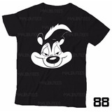 Camiseta Guns N Roses Pepe Le Pew Gamba Slash Rock Preta