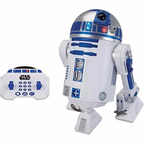 Boneco Robô Controle Remoto Star Wars Droid R2d2 Interativo