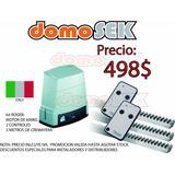 Kit Motor Roger 2 Controles 3 Metros De Cremalleras 600kg