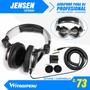 Audifono Dj Jensen Profesional, Cable Espiral Y Accesorios