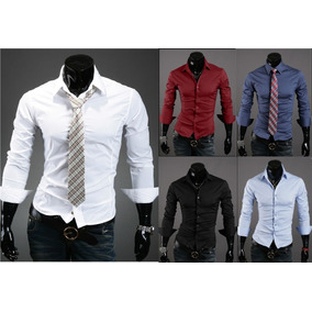 Camisas Slim Fit Super Entalladas X5 Unidades Precio X Mayor