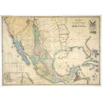 Lienzo Tela Mapa México 1847 50 X 71 Cm Alta California