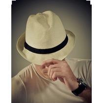 Chapéu Estilo Panamá Modelo Clássico Casual Unisex ( Fedora)