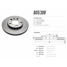 Fremax Bd5308 Disco Freio Dianteiro Par Vw Fox 2004 Aro 14