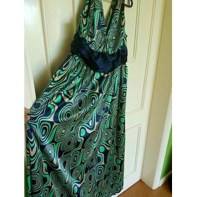 Vestido Longo Veste 46 Cetim Seda