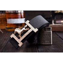 Hermoso Cinturón Con Hebilla De Caballo, Negro, Envío Gratis