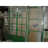 Puertas De Hierro Antiguas Con Vitraux (conjunto 2 Piezas)