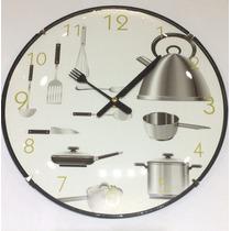 Reloj De Pared De Cocina 30cm Varios Diseños Cocina Deco