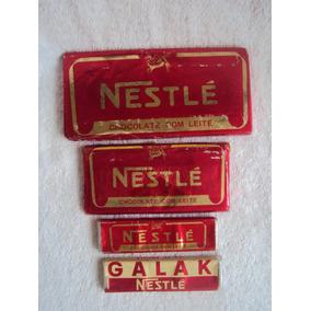 Chocolate Nestlé Leite Galak Embalagens Antigas Anos 60