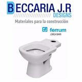 Inodoro Ferrum Bari Largo Blanco
