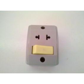 Interruptor 01 Tecla Simples+ Tomada De Sobrepor Pc 02 Unid.