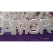 Palabras Amor Love Casamiento Alegria Paz 20 Cm Polyfan Caba