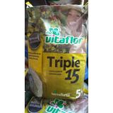 Triple 15 Fertilizante Granulado Cesped Floral Frutales