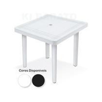 Mesa Plastica Quadrada Desmontável Decorada
