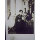 Fotografia Antigua Postal Niña Disfraz Española Rambla 1929