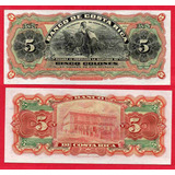 Billete De Costa Rica 5 Colones 1901 (formula Dama)