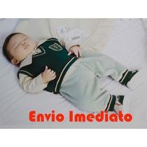 Saída De Maternidade Fofinho Menino Verde Colete E Sapatinho
