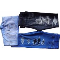 Kit 3 Calças Legguim Jeans Suplex Juvenil Atacado Revenda