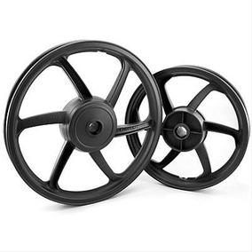 Roda Esportiva Preta (modelo Sport Mix) Titan 150 (tambor) F