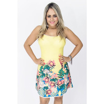 Vestido Feminino Estampado Balada Panicat Moda Verão 2017