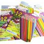Creyones Colores De Cera Plasticos 12 Maykolor