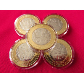 Moneda 20 Pesos Centenario Constitucion Con Capsula Unc