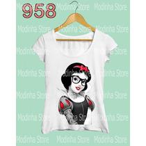 Branca De Neve Punk Tatoo Blusa Tshirt Feminina Princesa