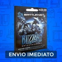 Wow, Diablo, Hearthstone, Overwatch Saldo Battle.net R$30,00