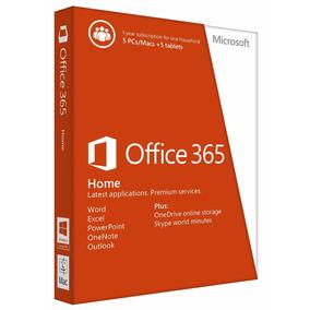 Office 365 Hogar 5 Pc/mac 1 Año *envio Mismo Dia*