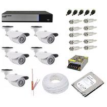 Kit Cftv Dvr Ahd-m Luxvision 8 Ch + 5 Câmera 1.3 Mp + Hd 1tb