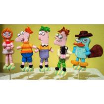 Paletas De Bombon Fiesta Infantil Phineas Y Ferb