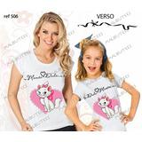 Lembrança De Aniversario Gata Marie Fada Kit Camiseta 2 Un