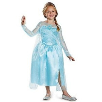 Disfrazar Frozen Elsa Snow Queen Vestido Clásico Niñas Traje