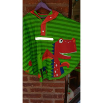 Capa De Lluvia De Tela Engomada Con Dinosaurio Para Nene
